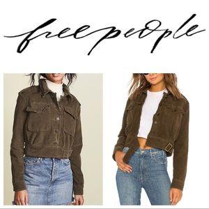 Free People Everlyn Moto Jacket In Moss